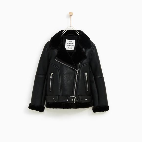 744cbab0 Zara Jackets & Coats | Kids Double Faced Moto Biker Jacket | Poshmark